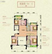 宏兴御景庄园4室3厅3卫200平方米户型图