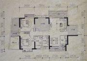 镒建世纪城3室2厅2卫123平方米户型图