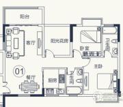 怡泰雅苑3室2厅2卫90平方米户型图