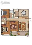 紫微台2室2厅2卫137平方米户型图