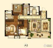 世茂招商语山3室2厅2卫100平方米户型图