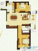 东外滩1号2室2厅1卫0平方米户型图