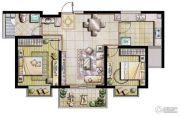 荣记玖珑湾2室2厅1卫91平方米户型图