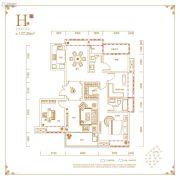 丽丰铂羽公馆4室2厅2卫137平方米户型图