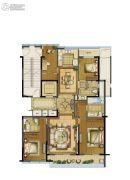 江湾城3室2厅3卫180平方米户型图