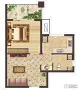 神农架龙降坪国际生态旅游度假区1室1厅1卫49平方米户型图