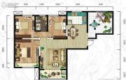 紫韵东城3室2厅1卫105平方米户型图