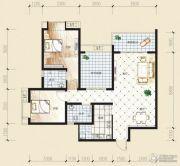 观音南部兴城2室2厅1卫97平方米户型图