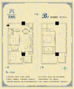 双城际・商务中心0室0厅0卫95平方米户型图