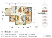 紫瑞华庭3室2厅2卫150--152平方米户型图