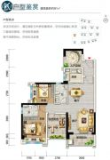 碧桂园中萃公园4室2厅2卫91平方米户型图