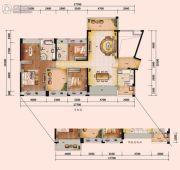 星河丹堤花园3室2厅2卫0平方米户型图