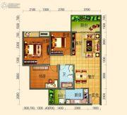 滨河壹号3室2厅1卫85平方米户型图