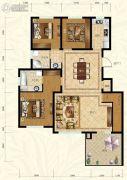 保利叶语3室2厅2卫131平方米户型图