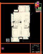 余之城3室2厅2卫89平方米户型图
