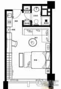 无锡恒大财富中心1室1厅1卫55平方米户型图