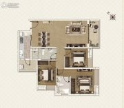 新世界凯粤湾3室2厅2卫112平方米户型图