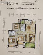 神州南都三期3室2厅2卫106平方米户型图