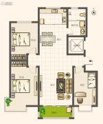 圣亚・绿溪园3室2厅1卫134平方米户型图
