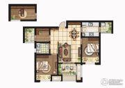 康桥悦岛2室2厅1卫88平方米户型图