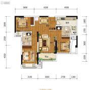 金科中建博翠长江3室2厅2卫79平方米户型图