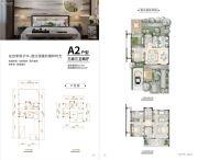 世合理想大地・至真里3室2厅3卫117平方米户型图
