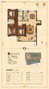 荣盛花语城3室2厅2卫130平方米户型图