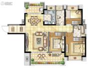 壹号公馆3室2厅2卫0平方米户型图