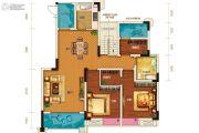 两江春城3室2厅1卫89平方米户型图