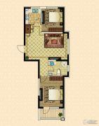 澳海澜庭2室2厅1卫81--83平方米户型图
