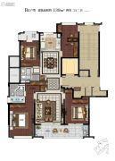 滨江保利・翡翠海岸4室2厅2卫139平方米户型图