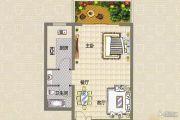 伊顿小镇1室2厅1卫0平方米户型图