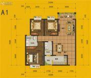 四通八达国际广场3室2厅2卫120平方米户型图
