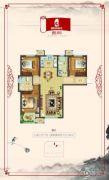 国宅华府西院3室2厅2卫127平方米户型图