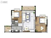 大宏锦绣3室2厅1卫99平方米户型图