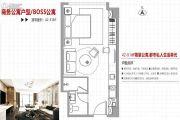 总部・首寓1室1厅1卫42平方米户型图