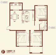 紫薇壹�・西韵3室2厅1卫129平方米户型图