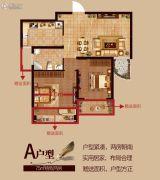 云梦清河2室1厅1卫75平方米户型图
