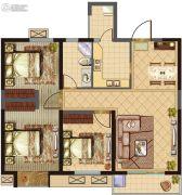 建屋・哈佛公园3室2厅1卫87平方米户型图