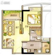 万科里享水韵1室2厅1卫52平方米户型图