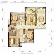 旷远・洋湖18克拉4室2厅2卫130平方米户型图