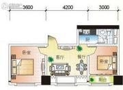 北部湾1号2室2厅1卫68平方米户型图