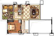 金地香山湖1室1厅1卫0平方米户型图