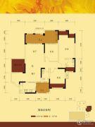 富悦麓山别苑3室3厅1卫124平方米户型图