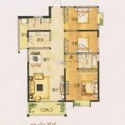 锦达豪庭3室2厅2卫142平方米户型图