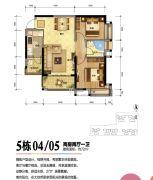 珠海奥园广场3室2厅2卫129平方米户型图