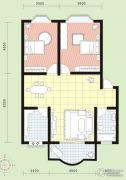 祥安花园2室2厅1卫86平方米户型图