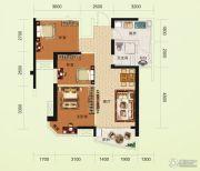 碧桂园澜江华府3室2厅1卫84--85平方米户型图