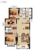 华瑞紫韵城3室2厅2卫115平方米户型图