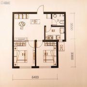 中铁丁香水岸2室2厅1卫61平方米户型图